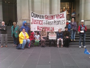 Silent vigil for Aboriginal justice 2015 January 26