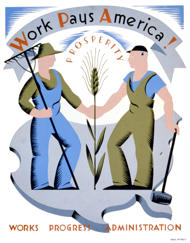 WPA Poster: Work Pays America