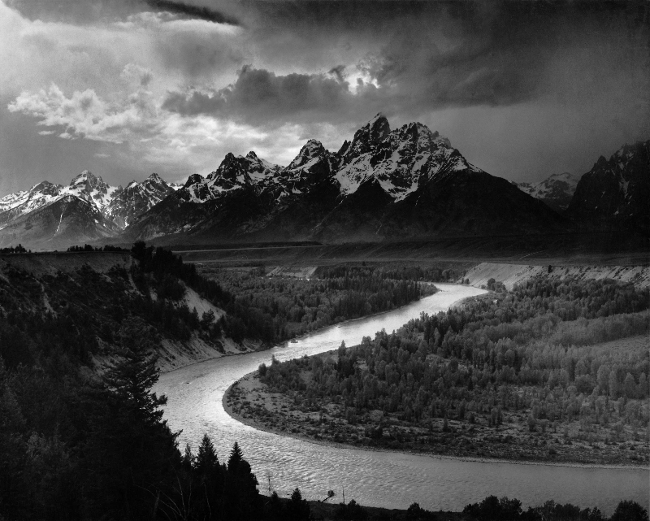 Ansel Adams The Tetons and Snake River