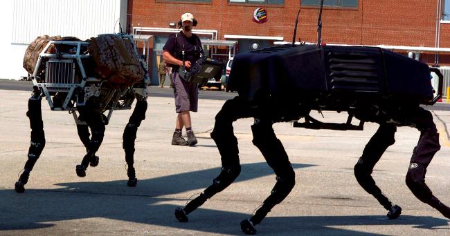 Military BigDog robots