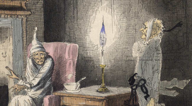 Scrooge and Jacob Marley's Ghost